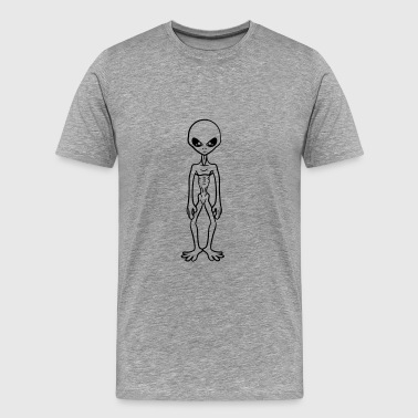 Cooler Grey Alien - Men's Premium T-Shirt
