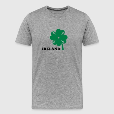ireland clover leaf shamrock - Men's Premium T-Shirt