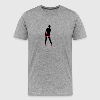 Girl in Strapse - Männer Premium T-Shirt