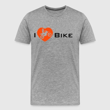 I Love my Enduro Bike - Premium-T-shirt herr
