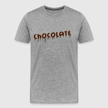 Chocolate Graffiti - Herre premium T-shirt
