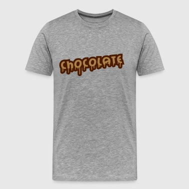 Chocolate Graffiti - Premium T-skjorte for menn