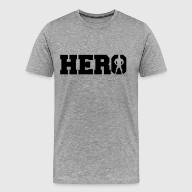 Super Hero Logo - Mannen Premium T-shirt