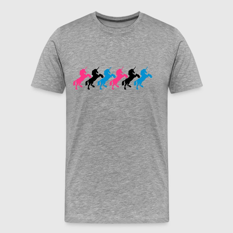 6 unicorns team pattern - Men's Premium T-Shirt