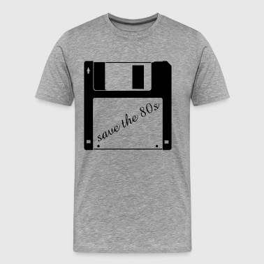 3,5 tomme diskette - save the 80er - Herre premium T-shirt