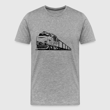 Freight railway locomotive - Men's Premium T-Shirt