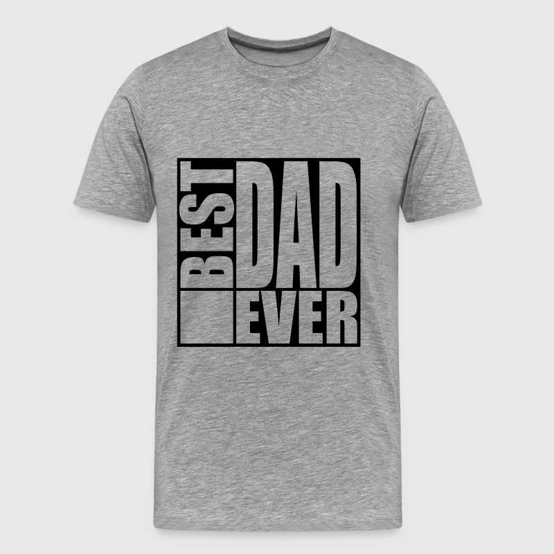 Cool Best Dad Ever Logo Design - Premium-T-shirt herr