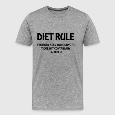 Diet rule - Mannen Premium T-shirt
