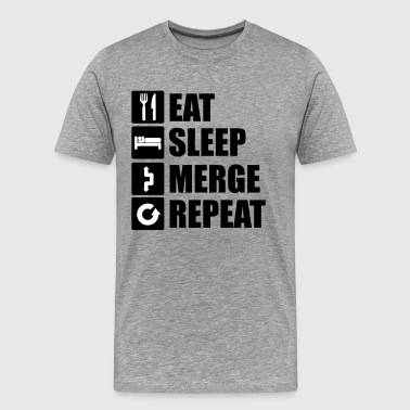 Eat sleep merge repeat - Männer Premium T-Shirt