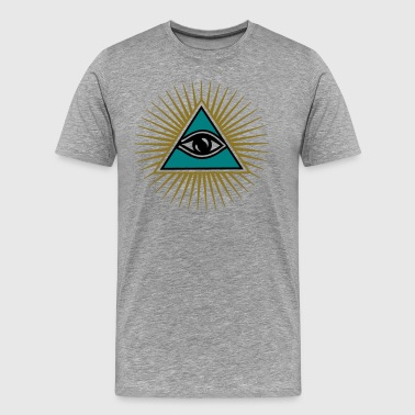All seeing eye, ancient mystery school symbol, - Men's Premium T-Shirt
