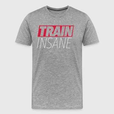 Trane Insane Training Hantel Bodybuilding - Männer Premium T-Shirt