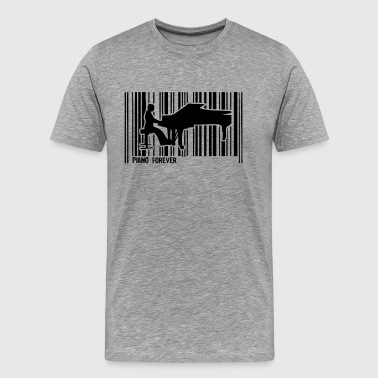 piano pianiste code barre1 - T-shirt Premium Homme