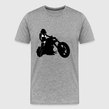 Sexy Big Bike - Men's Premium T-Shirt