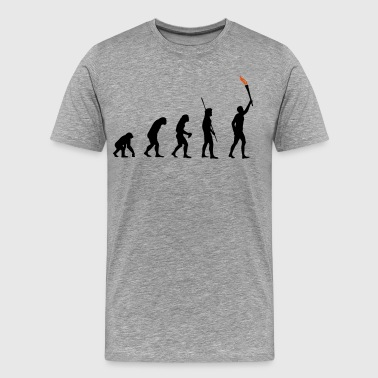 Evolutie Torch  - Mannen Premium T-shirt