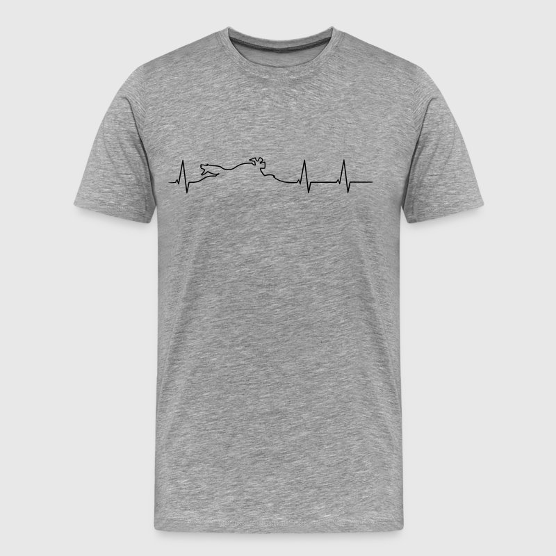 Biker heartbeat - Men's Premium T-Shirt