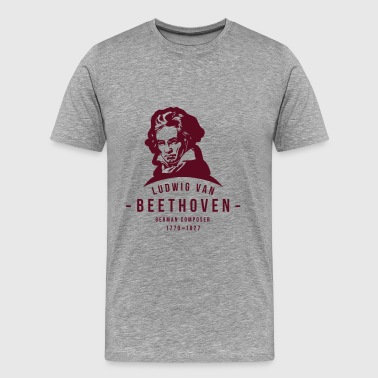 Ludwig van Beethoven, Classical, Music - Men's Premium T-Shirt