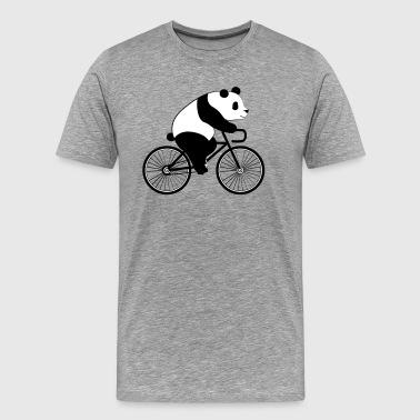 Panda Bicycle - Männer Premium T-Shirt