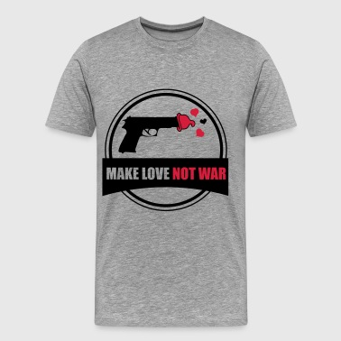 make love not war - Men's Premium T-Shirt