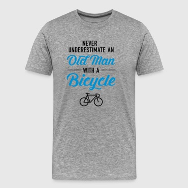 Old Man - Bicycle - Premium-T-shirt herr