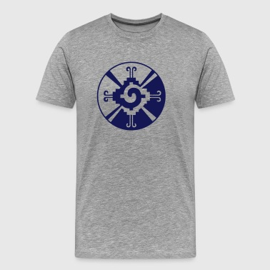 Hunab Ku - Mayan Symbol - Heart of Galaxy / - Premium T-skjorte for menn