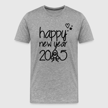 Happy new year 2015 - Premium T-skjorte for menn