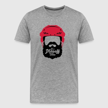 Eishockey Playoff Bart - Hockey Beard Helmet 1 - Männer Premium T-Shirt