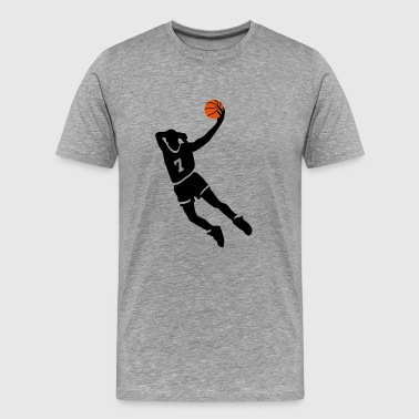 Basketball slam dunk - T-shirt Premium Homme