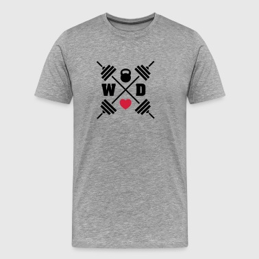 Workout Love - Camiseta premium hombre