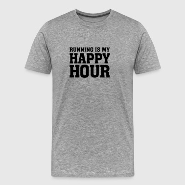 Running Is My Happy Hour - Men's Premium T-Shirt