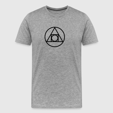 Squaring the circle, alchemical symbol, occultism - Men's Premium T-Shirt