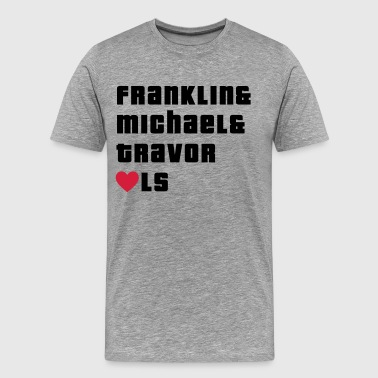 Franklin, Michael and Travor love LS - Men's Premium T-Shirt