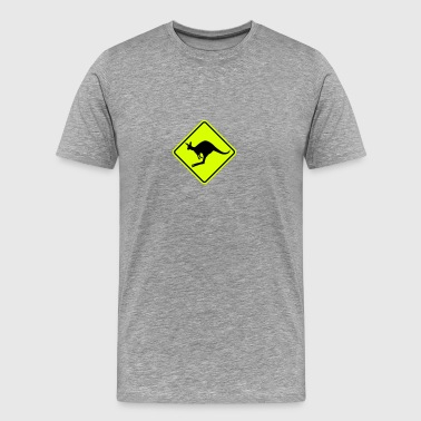 Kangaroo road sign - Men's Premium T-Shirt