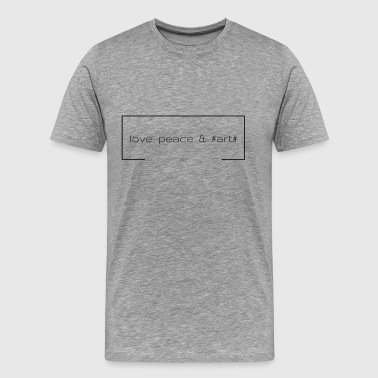 Documenta love peace & #art# - schwarz - Männer Premium T-Shirt