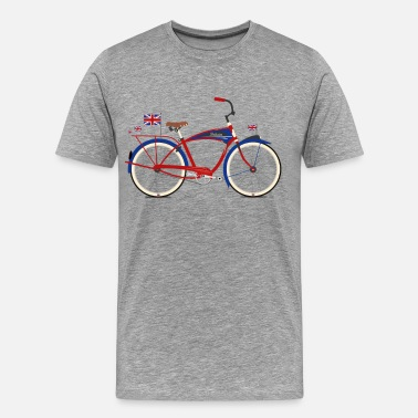 Flag British Bicycle - Men's Premium T-Shirt