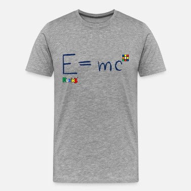 Mc Rubik's E = mc Blue - Premium T-skjorte for menn
