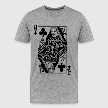 Queen Card - Cross Lady Poker Skat Card Gift - Men's Premium T-Shirt