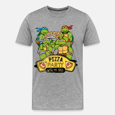 Tortue Ninja Pizza Tortues Ninja Pizza Party With My Bros - T-shirt Premium Homme