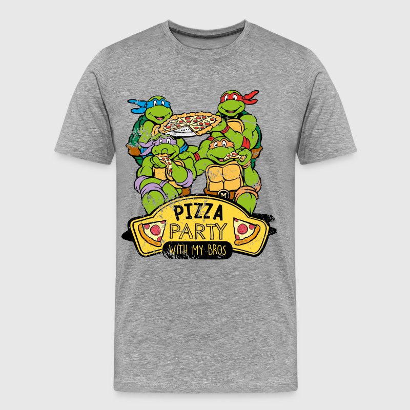 TMNT Turtles Pizza Party With My Bros - Mannen Premium T-shirt