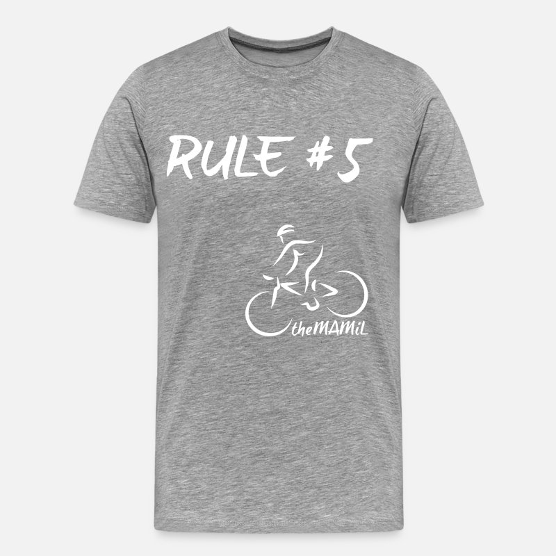 Cycling T-Shirts - Rule 5 - Men's Premium T-Shirt heather grey