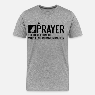 Catholic Funny Prayer - the best wireless communication - Men's Premium T-Shirt