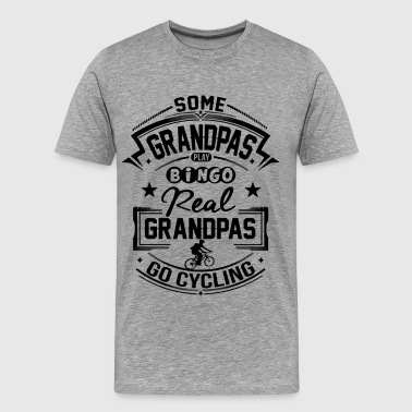 Cycling Opa Real Grandpas Go Cycling  - Männer Premium T-Shirt
