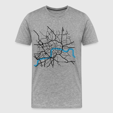 LONDON City Abstract Map groß - Männer Premium T-Shirt