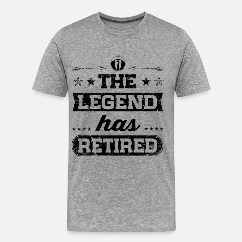 Retraite T-shirts - The Legend Has Retired - T-shirt premium Homme gris chiné