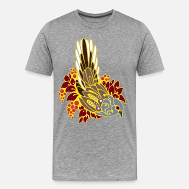 Bird Tribal Tattoo Diamond dove tribal tattoo - Men's Premium T-Shirt