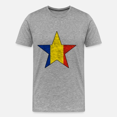 Roumain Drapeau national roumain - T-shirt Premium Homme