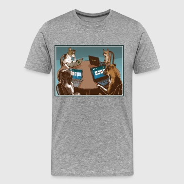 Dog Card Players - Männer Premium T-Shirt