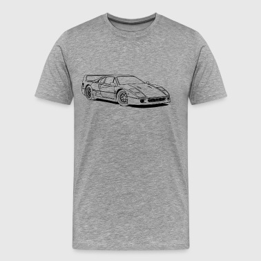 f40 outlines - Men's Premium T-Shirt