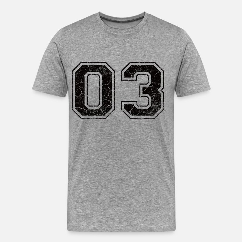 2003 T-Shirts - Number 03 in the grunge look - Men's Premium T-Shirt heather grey