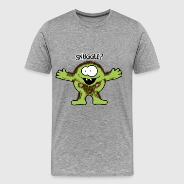 Hairy snuggle Monster - Men's Premium T-Shirt