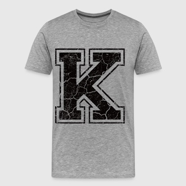 Letter K in the grunge look - Men's Premium T-Shirt